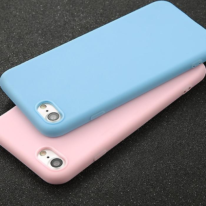 USLION Ultraslim iPhone 6S Plus Silicone Case TPU Case Cover Purple