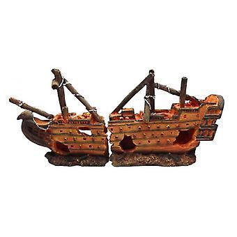 Duvo+ Aquarium decoration Barca Shipwrecked No. 22 40 X 10 X 19 Cm