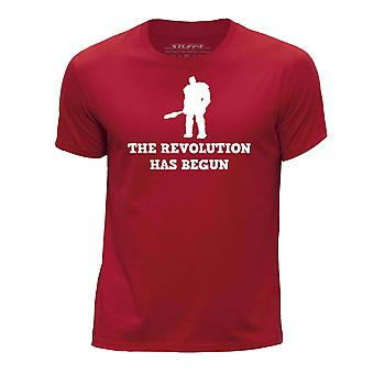 STUFF4 Boy's Round Neck T-Shirt/Funny Korg Quote / Revolution/Red