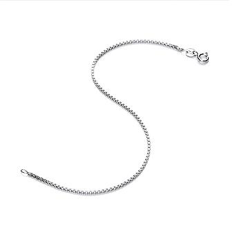 David Deyong Sterling Silver Rhodium Plated 1.5mm Box Chain Bracelet