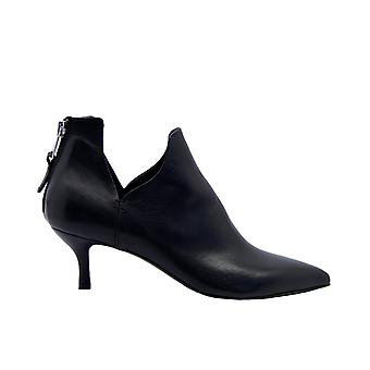 Strategia A4527nero Women's Black Leather Ankle Boots