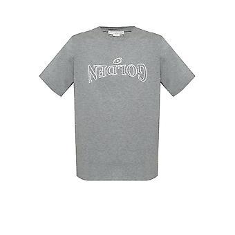 Golden Goose G35mp524d3 Män's Grå bomull T-shirt