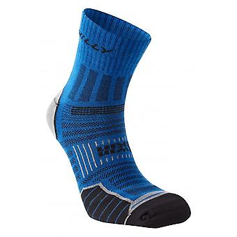 Hilly Twin Skin Anklet Running Socks | Azurite|Grey Marl