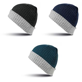 Result Winter Essentials Double Layer Knitted Hat