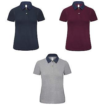 B&C Denim Womens/Ladies Forward Short Sleeve Polo Shirt
