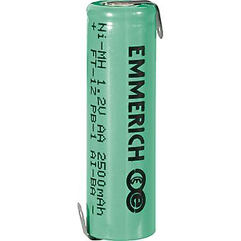 Emmerich 255029 NiMH AA Size 1.2V 2500mAh Rechargeable Battery Tagged