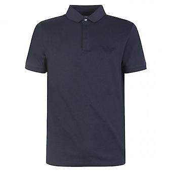 Emporio Armani Navy Short Sleeve Jersey Polo T-Shirt 3H1F89 1J30Z