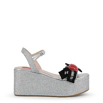 Love Moschino Original Women Spring/Summer Wedge - Grey Color 34602