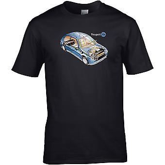 Peugot 106 Cutaway - Car Motor - DTG Printed T-Shirt