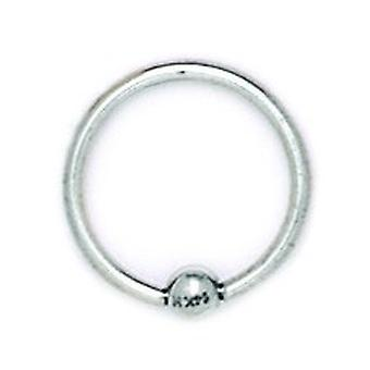 14k White Gold 16 Gauge Circular Body Piercing Jewelry Bead Ring Measures 14x14mm Jewelry Gifts for Women