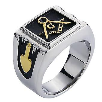 Plated freemason ring