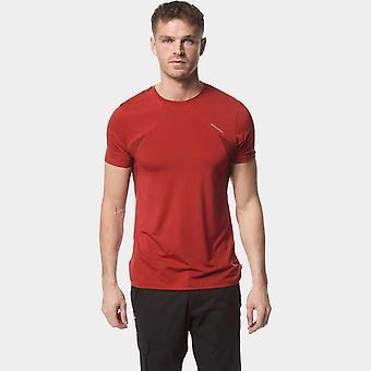 Nueva Craghoppers Hombres's Fusion camiseta de manga corta roja
