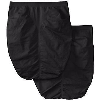 Bali Femei & Apos;s Shapewear fără sudură Scurt Ultra Control 2-Pack, negru, mediu