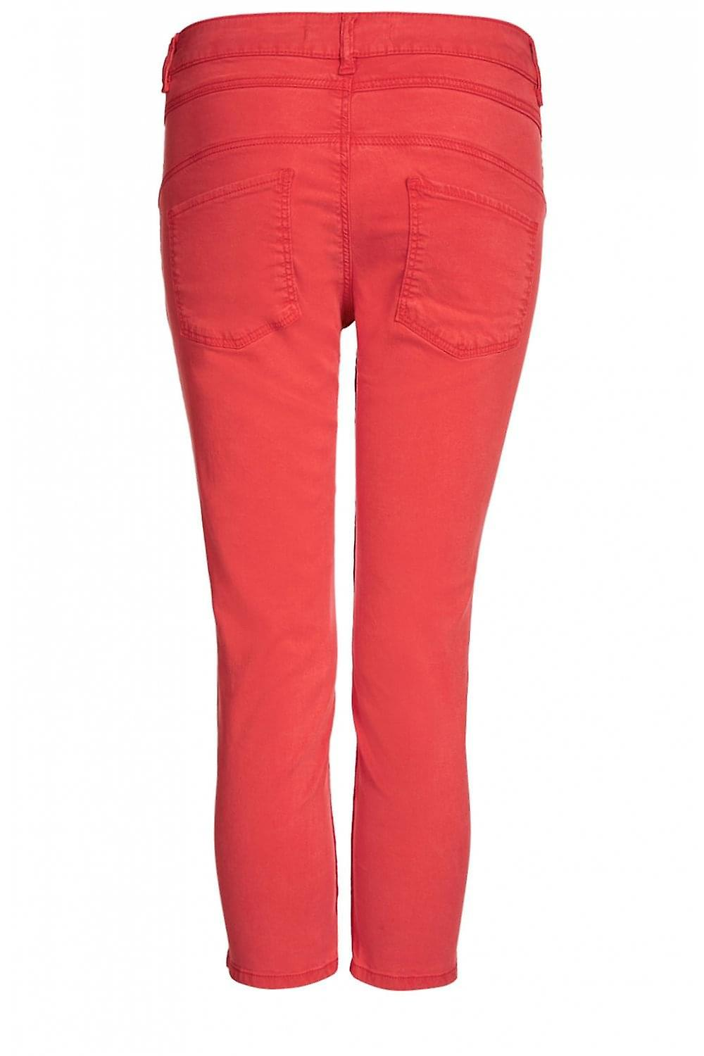 Oui Red Cropped Newport Trousers sY2aqD