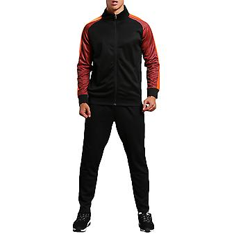 Allthemen Men's Stand Collar Colorblock Zipper Casual Sports Jacket