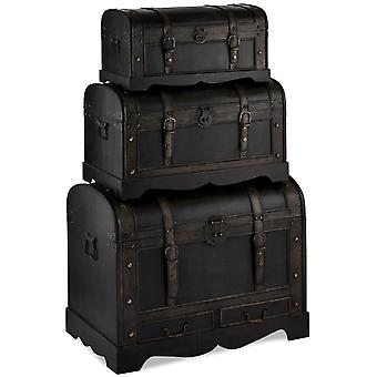 Trunk Set Schwarz Runde Top