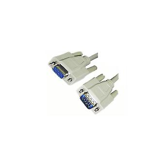 Wicked Wired HD15 15Pin Male VGA To HD15 15Pin Female VGA Cable