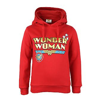 DC Comics Wonder Woman Classic Text Logo Girls Pullover Hoodie (fr) Marchandises officielles