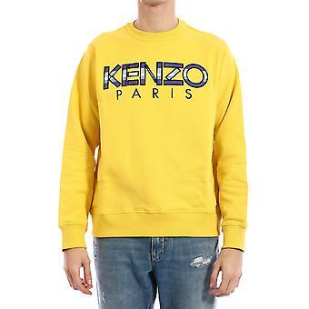 Kenzo Fa55sw0004md39 Mænd's Gul bomuldsst sweatshirt