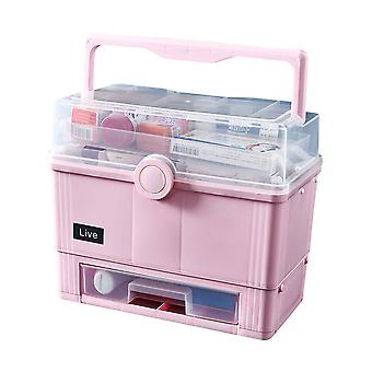 First aid kit multi-layer, home office emergency large rescue medicine cabinet, medicine cabinet storage box portable