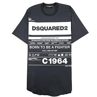 Dsquared2 Født til å være en Fighter T-skjorte Svart