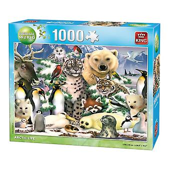 King Jigsaw Puzzle Animal World - Arctic Life (1000 Stuk)