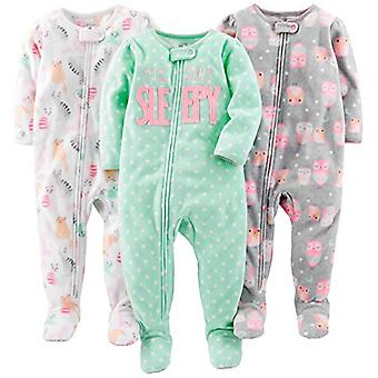 Simple Joys by Carter's Baby Girls' 3-Pack Loose Fit Flame Resistant Fleece F...