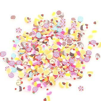 Polymer Clay Flower Fruit Crafts Flatback Embellishments 1000pcs - Diy Stickers Decoration Nail Art Embellishments