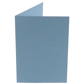 Papicolor hellblau A6 Doppelkarten