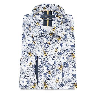 Guide London Bees On Flowers Pure Cotton Long Sleeve Men's Shirt