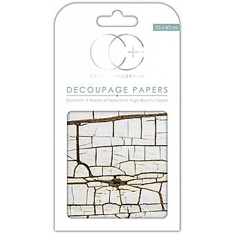 Craft Consortium säröillä Wood Decoupage Papers