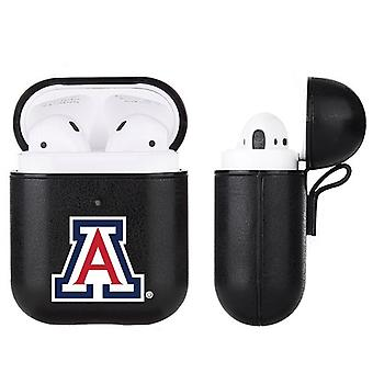 Arizona Wildcats NCAA Fan Brander Zwart Lederen AirPod Case