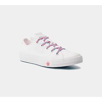 كونفيرس Ctas أوكس 564117C الأبيض / المتسابق الوردي المرأة & أحذية S الأحذية