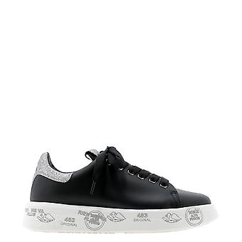 Premiata Belle4904 Dames's Black Leather Sneakers