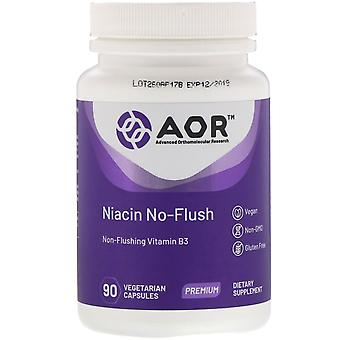 Advanced Orthomolecular Research AOR, Niacin No-Flush, 90 Capsules végétariennes