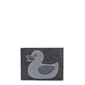 Thom Browne Maw199b00198001 Women's Black Leather Card Holder