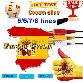Cline Germany-Cccam Cline for 1-year Europe CCCAM Spain-Portugal-Poland Stable for DVB-S2 Satellite-Receiver-Receptor