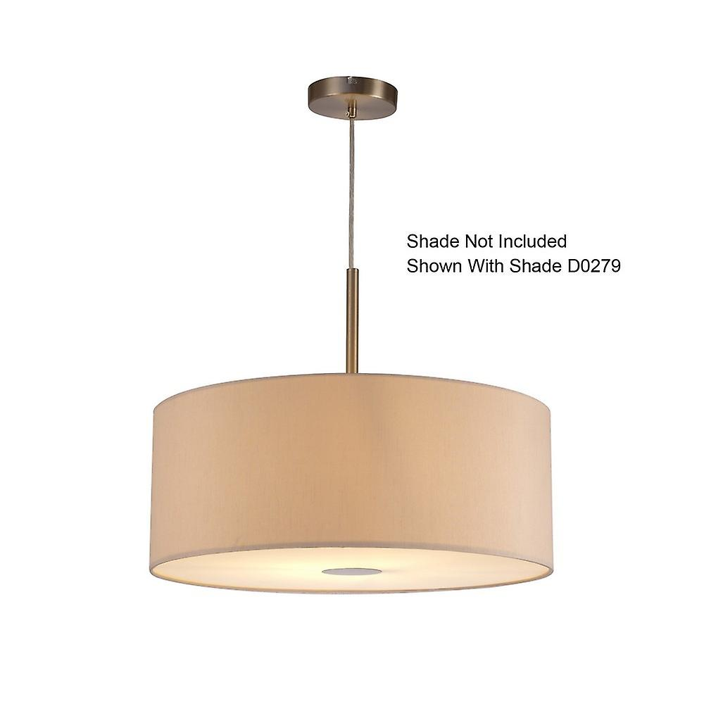 Inspired Deco - Baymont - Satin Nickel 1 Light E27 Universal 3m Ceiling Pendant, Suitable For A Vast Selection Of Shades