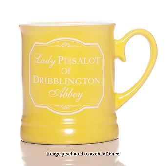 Grappige Nieuwigheid aanvallende mok - Dame P.. salot van Dribblington Abbey - Boxed Gift