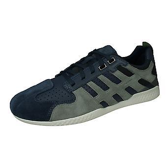 Geox U Snake 2 A Mens Wildleder Trainer / Sneakers - Blau und Grau
