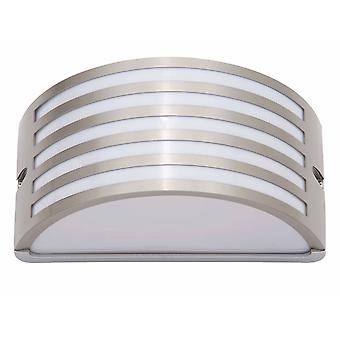 BRILLIANT lampa Celica utomhus vägglampa rostfritt stål   1x A60, E27, 60W, lämplig för normala lampor (medföljer ej)   Skala