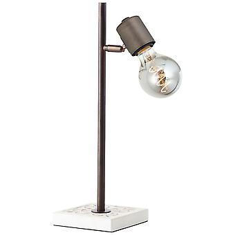 LUZ de mesa brillantes Vagos luces interiores en blanco/negro, lámparas de mesa, 1x A60, E27, 28W, adecuado para lámparas normales