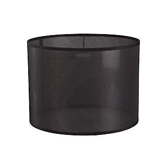 35 Cm Round Sheer Weave Fabric  Lampshade Black