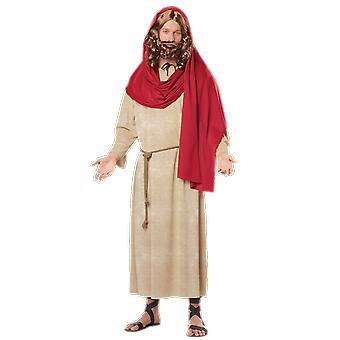 Mens Jesus Religious Christmas Nativity Stag Night Fancy Dress Costume