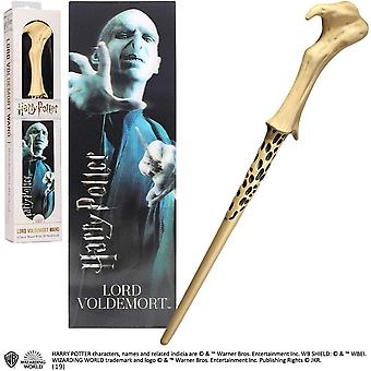 Noble Collection PVC Lord Voldemort Magic Wand & Bookmark Set