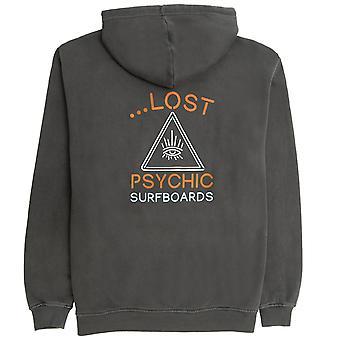 Lost psychic surfboards pullover hoodie vintage black