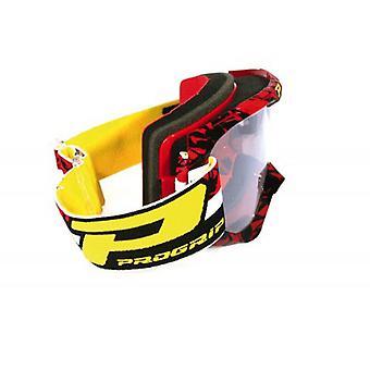 Progrip 3450-16FLBKRD Progrip Goggles - 3450 Fluorescent Red/Blk