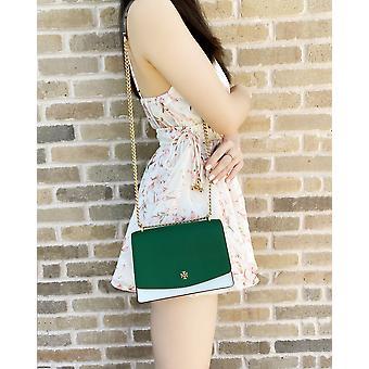 Tory burch emerson mini shoulder bag seltzer emerald stone green colorblock