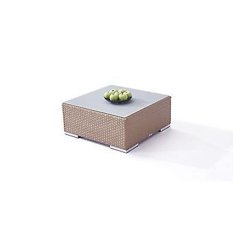 Polyrattan Cube table 75 cm - caramel