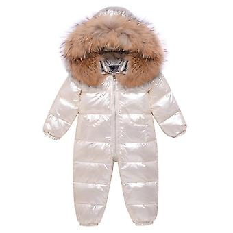 Children Clothing Winter Overalls Down Jacket Outerwear Coat Thick Snowsuit